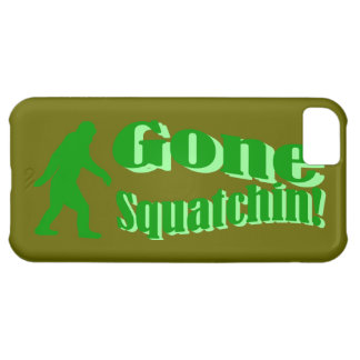 Texto ido verde del lema del squatchin funda para iPhone 5C