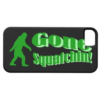 Texto ido verde del lema del squatchin iPhone 5 carcasa