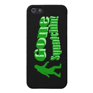 Texto ido verde del lema del squatchin iPhone 5 carcasas