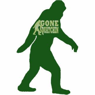 Texto ido verde del lema del squatchin llavero fotográfico