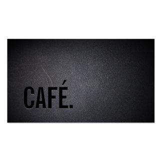 Texto intrépido oscuro elegante del café de CAFÉ Tarjetas De Visita