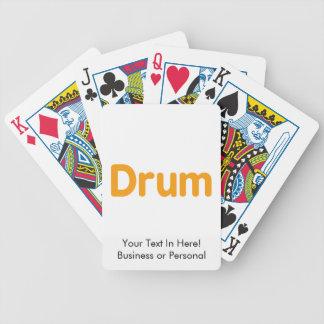 texto l anaranjado diseño del tambor de la música barajas de cartas