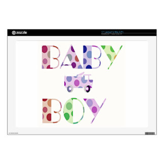Texto lindo del bebé portátil skins