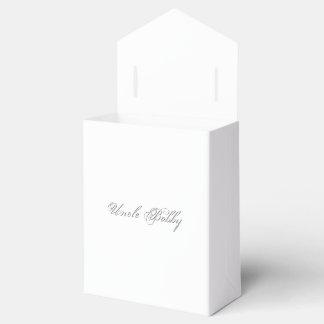Texto llano del nombre del monograma 3d caja para regalos de fiestas