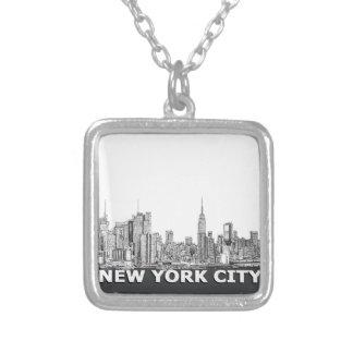 Texto monocromático del horizonte de NYC Grimpola
