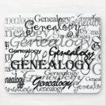 Texto Mousepad de la genealogía Alfombrilla De Raton