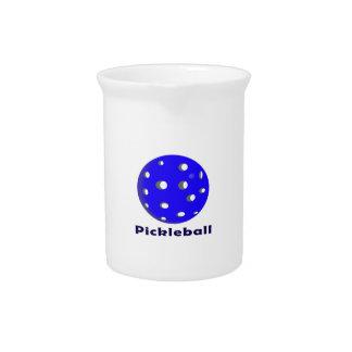 texto n ball.png azul del pickleball jarras para bebida