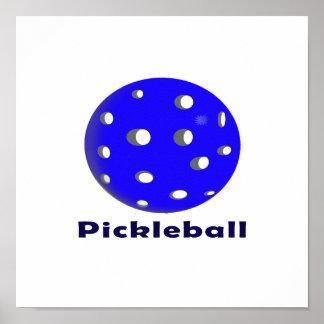 texto n ball.png azul del pickleball poster