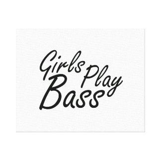 Texto negro bajo del juego de los chicas impresiones en lienzo estiradas