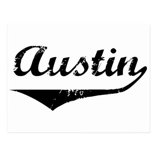 Texto negro de Austin Tarjeta Postal
