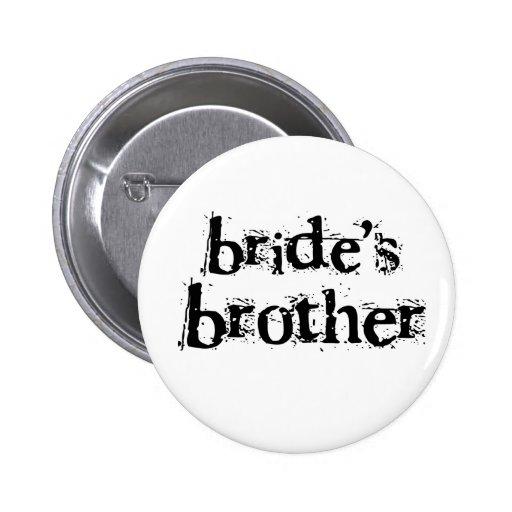 Texto negro de Brother de la novia Pins