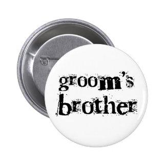 Texto negro de Brother del novio Pin
