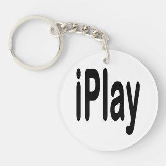 texto negro iplay para los que están jugando llavero