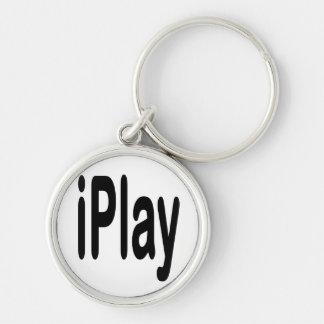 texto negro iplay para los que juegan llavero