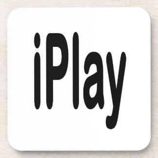 texto negro iplay para los que juegan posavasos de bebida