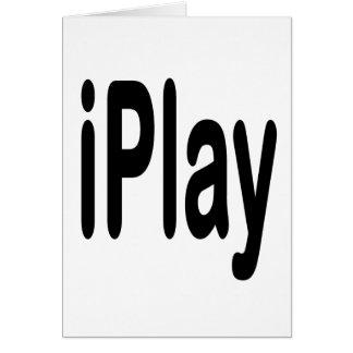 texto negro iplay para los que juegan tarjeta pequeña
