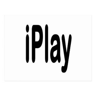 texto negro iplay para los que juegan postal