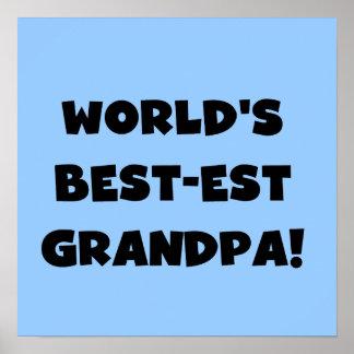 Texto negro o blanco del abuelo del Mejor-est del  Impresiones