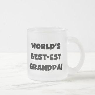 Texto negro o blanco del abuelo del Mejor-est del  Tazas De Café