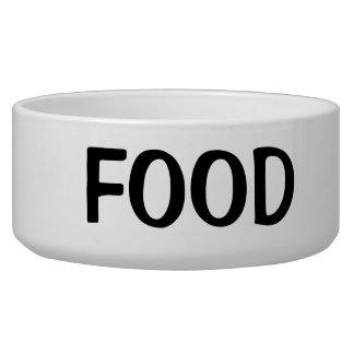 Texto negro simple de la comida tazon para perro