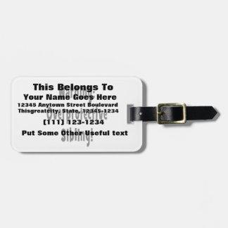 texto overporotective del negro del hermano etiquetas para maletas