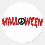 texto-pegatina de Halloween del goteo
