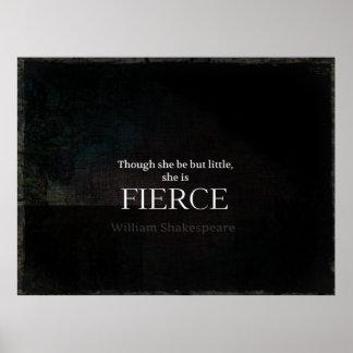 Texto pequeño y feroz del blanco de la cita de posters