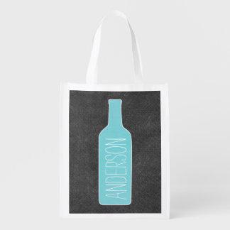 Texto personalizado con el ejemplo de la botella bolsas reutilizables