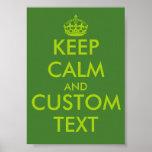 Texto personalizado el | verde de los posters de K