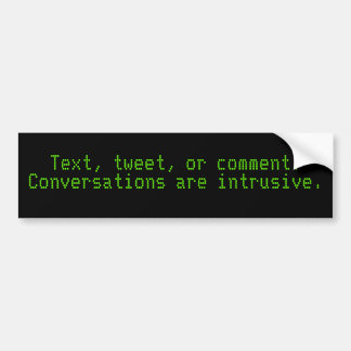 Texto, pío, o comentario. Las conversaciones son i Pegatina Para Auto