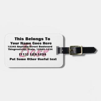Texto plano de la vela baja etiquetas maleta