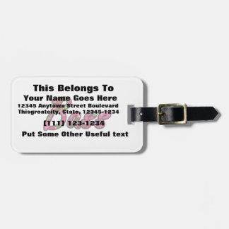 Texto plano del esquema bajo de la vela etiqueta de maleta