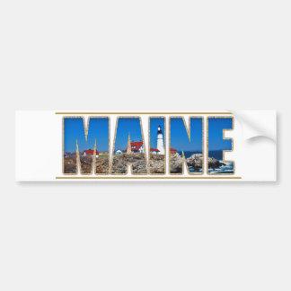 Texto principal de la imagen del faro de Maine Pegatina Para Auto
