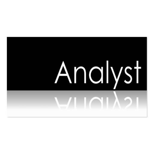 Texto reflexivo - analista - tarjeta de visita