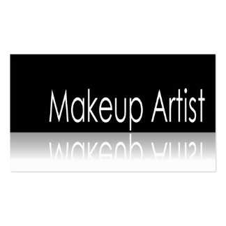 Texto reflexivo - artista de maquillaje - tarjeta  tarjeta de visita