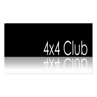 Texto reflexivo - club 4x4 - tarjeta de visita del