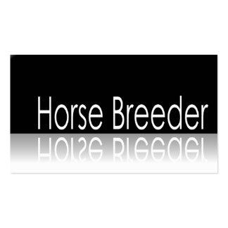 Texto reflexivo - criador del caballo - tarjeta de tarjetas de visita