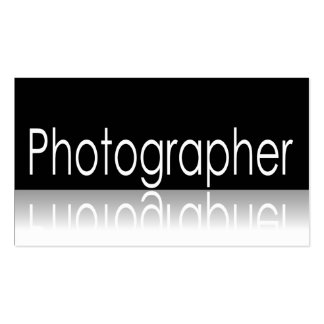 Texto reflexivo - fotógrafo - tarjeta de visita