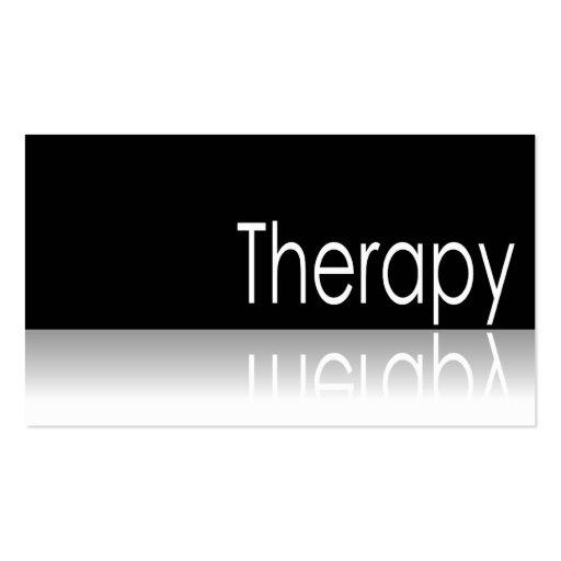 Texto reflexivo - terapia - tarjeta de visita