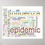 texto relacionado de la gripe de la gripe posters