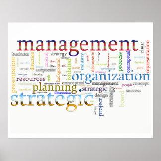 texto relacionado estratégico de la gestión póster