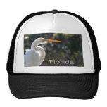 Texto retroiluminado de la Florida del Egret blanc Gorras