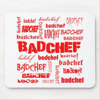 Texto rojo Badchef Tapetes De Ratones