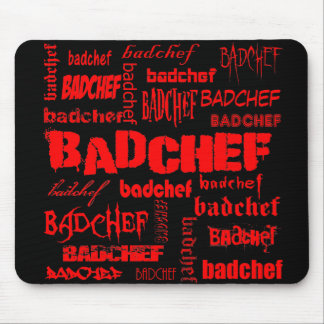 Texto rojo Badchef Alfombrilla De Raton