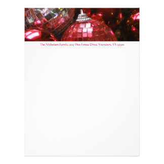 Texto rojo del rojo del papel con membrete de la membrete personalizado
