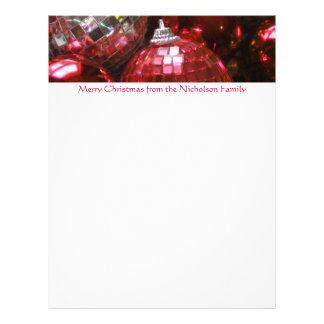 Texto rojo del rojo del papel con membrete de las membretes personalizados
