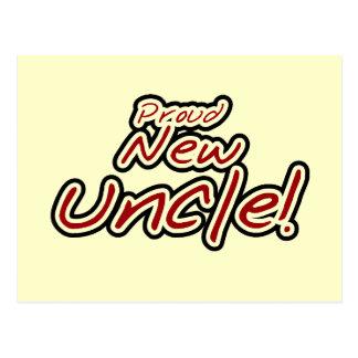 Texto rojo y negro del nuevo tío orgulloso - postal