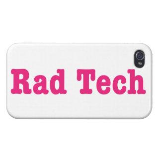 Texto rosado de la tecnología el   del Rad iPhone 4 Carcasa