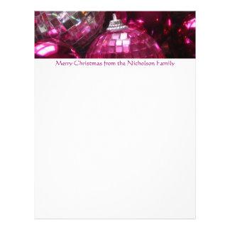 Texto rosado del rosa del papel con membrete de membretes personalizados
