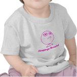 Texto rosado y blanco aceptado desafío camiseta